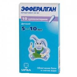 Эффералган, супп. рект. 300 мг №12