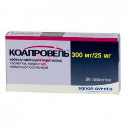 Коапровель, табл. п/о пленочной 300 мг+25 мг №28