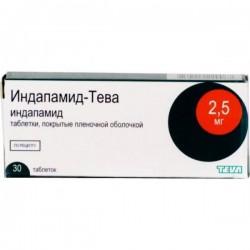 Индапамид-Тева, табл. п/о пленочной 2.5 мг №30