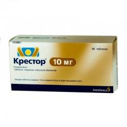 Крестор, табл. п/о пленочной 10 мг №98