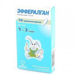 Эффералган, супп. рект. 150 мг №12