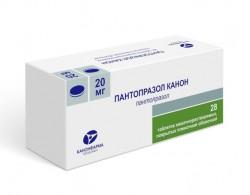 Пантопразол Канон, табл. п/о кишечнораств. пленочной 20 мг №28