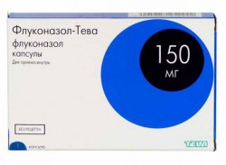 Флуконазол-Тева, капс. 150 мг №1