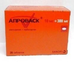 Апроваск, табл. п/о пленочной 10 мг + 300 мг №28