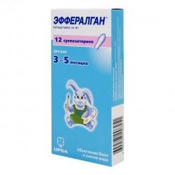 Эффералган, супп. рект. 80 мг №12