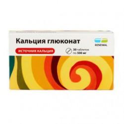 Кальция глюконат, RENEWAL табл. 500 мг №20 инд. упак.