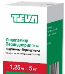 Индапамид/Периндоприл-Тева, табл. п/о пленочной 1.25 мг+5 мг №30