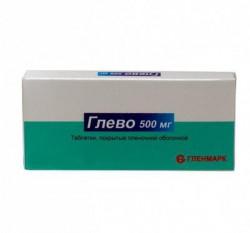 Глево, табл. п/о пленочной 500 мг №10