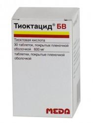 Тиоктацид БВ, табл. п/о пленочной 600 мг №30